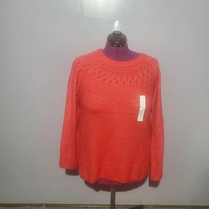 Evri red knit sweater pullover